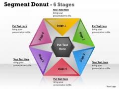 Sales Diagram Segment Donut 6 Stages Circular Diagram Business Diagram
