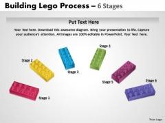 Sales Diagram Semi Building Blocks 6 Stages Consulting Diagram