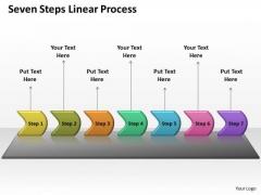 Sales Diagram Seven Steps Linear Process Business Diagram