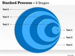 Sales Diagram Stacked Blue Graphics 6 Stages Strategic Management