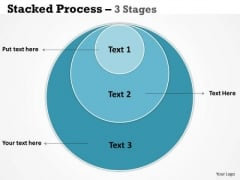 Sales Diagram Stacked Triple Round Process 3 Stages Business Framework Model
