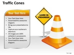 Sales Diagram Traffic Cones Business Finance Strategy Development