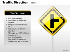 Sales Diagram Traffic Direction Signs Consulting Diagram