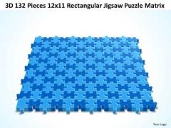 Srategy Diagram 3d 132 Pieces 12x11 Rectangular Jigsaw Puzzle Matrix Business Framework Model