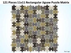 Strategic Management 121 Pieces 11x11 Rectangular Jigsaw Puzzle Matrix Business Diagram