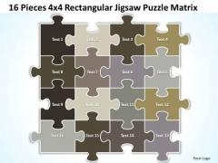 Strategic Management 16 Pieces 4x4 Rectangular Jigsaw Puzzle Matrix Business Diagram
