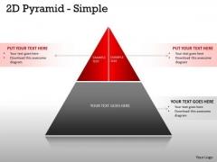Strategic Management 2 Staged 2d Pyramid Design Business Diagram