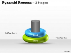 Strategic Management 2 Staged Pyramid Process Marketing Diagram