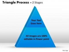 Strategic Management 2 Staged Triangle Process Business Diagram