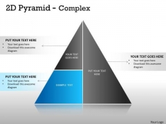 Strategic Management 2d Pyramid With Complex Design Marketing Diagram