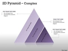 Strategic Management 3 Staged Triangle For Business Process Marketing Diagram