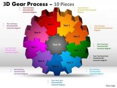 Strategic Management 3d 10 Pieces Style Business Diagram
