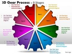 Strategic Management 3d 9 Stages Style Sales Diagram