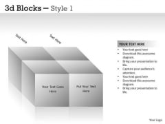 Strategic Management 3d Blocks Style 1 Sales Diagram