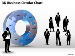 Strategic Management 3d Business Circular Chart Diagram PowerPoint Templates Sales Diagram