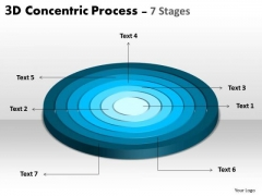 Strategic Management 3d Business Process With 7 Stages Business Diagram