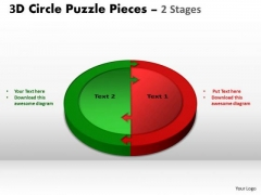 Strategic Management 3d Circle Puzzle Diagram 2 Stages Business Cycle Diagram