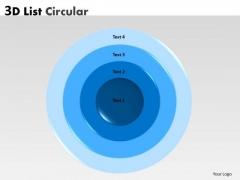 Strategic Management 3d Circular Concentric Diagram Sales Diagram
