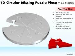 Strategic Management 3d Circular Missing Puzzle Piece 11 Stages Consulting Diagram