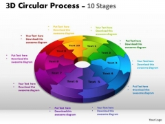 Strategic Management 3d Circular Process Cycle Diagram Ppt Templates Marketing Diagram
