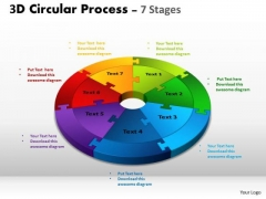 Strategic Management 3d Circular Process Templates Business Diagram
