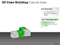 Strategic Management 3d Cube Building Cube By Cube Business Diagram