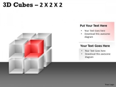 Strategic Management 3d Cubes 2x2x2 Sales Diagram