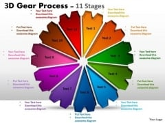 Strategic Management 3d Gear Process 11 Stages Style Strategy Diagram