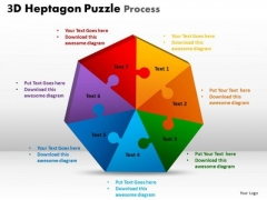 Strategic Management 3d Heptagon Puzzle Process Business Cycle Diagram