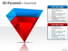 Strategic Management 3d Inverted Pyramid With 2 Stages Sales Diagram