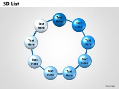 Strategic Management 3d List Business Diagram
