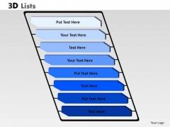 Strategic Management 3d List With 8 Stages For Business Process Diagram Sales Diagram
