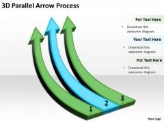 Strategic Management 3d Parallel Arrow Process Sales Diagram