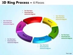 Strategic Management 3d Ring Process 6 Pieces Business Diagram