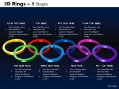 Strategic Management 3d Rings 8 Stages Business Diagram