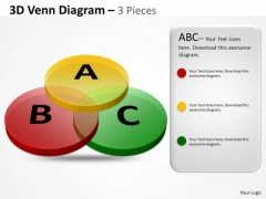 Strategic Management 3d Venn Diagram Marketing Diagram