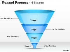 Strategic Management 4 Staged Filteration Process Funnel Diagram Business Diagram