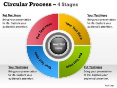 Strategic Management 4 Stages Flow Chart Business Process Business Diagram
