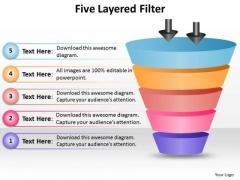 Strategic Management 5 Layered Filter Process Diagram Sales Diagram