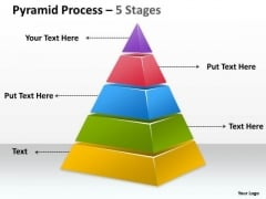 Strategic Management 5 Staged Triangle Design For Sales Strategy Business Diagram
