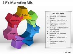 Strategic Management 7ps Marketing Mix Sales Diagram