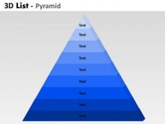 Strategic Management 9 Staged 3d Triangle Diagram For Marketing Consulting Diagram