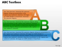 Strategic Management Abc Text Box For Business Presentation Sales Diagram