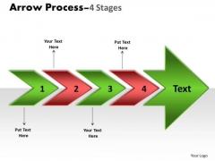 Strategic Management Arrow Process 4 Stages Business Diagram