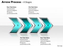 Strategic Management Arrow Process 4 Stages Style 2 Business Cycle Diagram