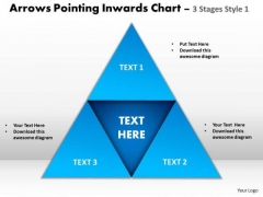 Strategic Management Arrows Pointing Inwards Chart 3 Stages Style 1 Sales Diagram
