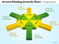 Strategic Management Arrows Pointing Inwards Chart 6 Stages 4 Business Framework Model