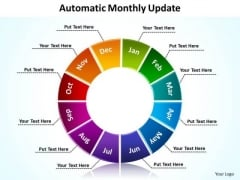 Strategic Management Automatic Monthly Update Sales Diagram