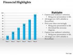 Strategic Management Bar Graph For Business And Financial Growth Business Diagram