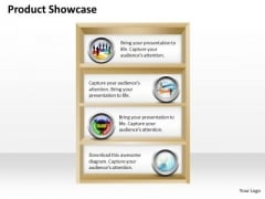 Strategic Management Build A Product Showcase And Portfolio Sales Diagram